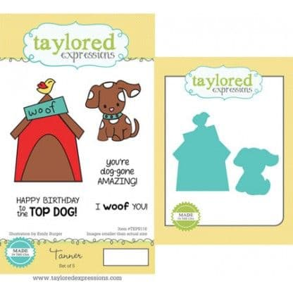 TEPS116 ~ TANNER - SET OF 5 ~ Stamps with coordinating dies by Taylored Expressions