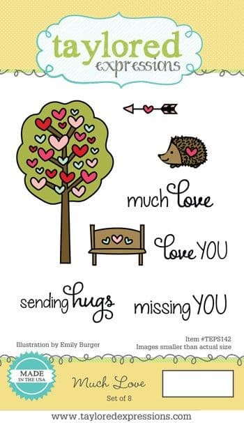 TEPS142 ~ MUCH LOVE~ set 7 stamps ~ Taylored Expressions
