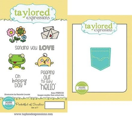 TEPS150 ~ POCKETFUL OF SUNSHINE - SET OF 7 Stamps with coordinating die by Taylored Expressions