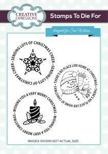 UMS729 ~ CHRISTMAS MOTIFS ~ Pre cut stamp ~ Festive Collection ~ Sue Wilson