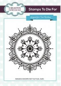 UMS731 ~ YULETIDE RADIANCE ~ Pre cut stamp ~ Festive Collection ~ Sue Wilson