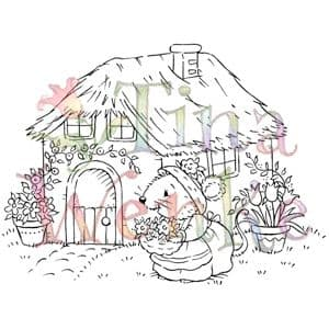 WDS248 ~ COTTAGE MOUSE ~ TINA WENKE  Stampavie Clear stamp