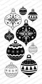 WP787 ~ FESTIVE ORNAMENTS~ Clear self-cling  Impression Obsession stamps