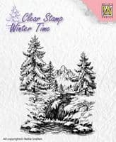 WT004  - Winter Waterfall - Nellie Snelling clear stamp