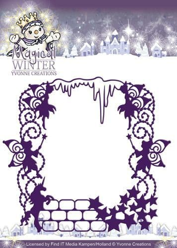 YCD10041 L ~ Magical Winter Magical Frame  ~ Yvonne Creations