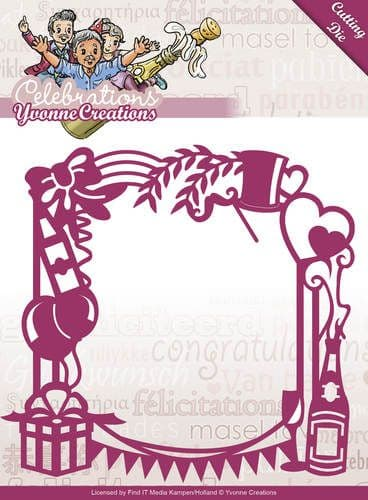 YCD10051 L ~ Celebrations ~ Party Frame ~ Yvonne Creations