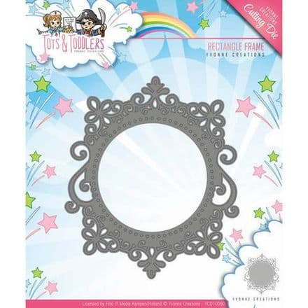 YCD10090 L ~ Tots & Toddlers ~ Rectangle Frame ~ Yvonne Creations