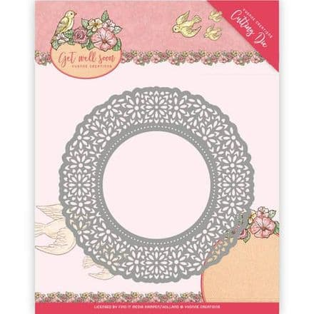 YCD10101 L ~ Get Well Soon ~ Flower Doily ~ Yvonne Creations