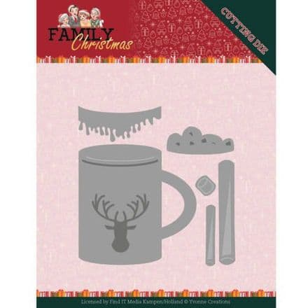 YCD10186 ~ Hot Drink  Die ~ Family Christmas ~ Yvonne Creations