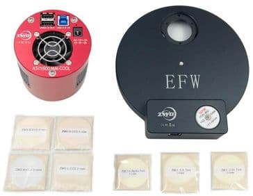 ZWO ASI1600MM-PRO with EFW 8, 31mm RGBL Filter Set & 31mm Ha, SII, OIII 7nm Filter Set BUNDLE