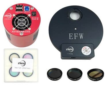 "ZWO ASI1600MM PRO with EFWMini, 1.25"" RGBL Filter Set & 1.25"" H-alpha 7nm Filter BUNDLE"