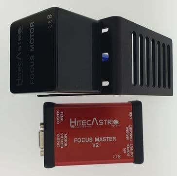Hitec Astro Focus Master V2 Focus Controller with Stepper Motor and Bracket