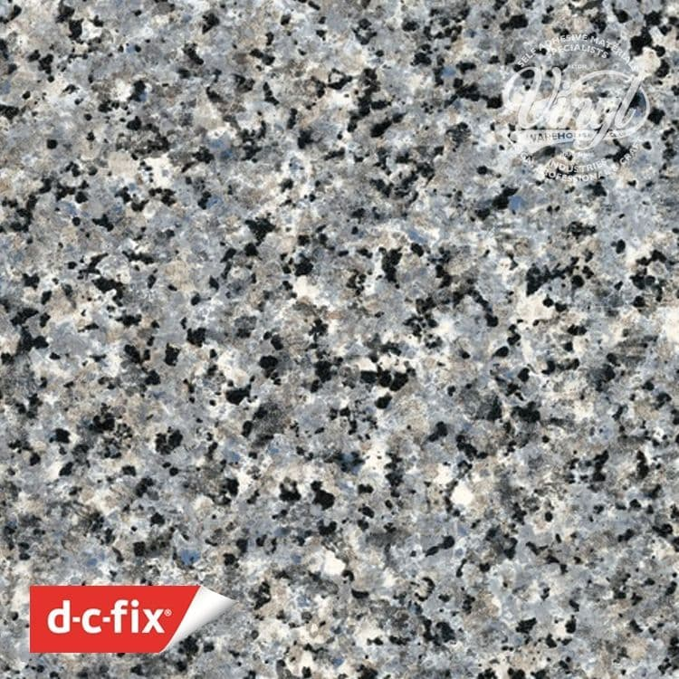 67cm x 2m Blue/Grey Porrinho Granite Stone Fleck Sticky Back Vinyl (346-8049)