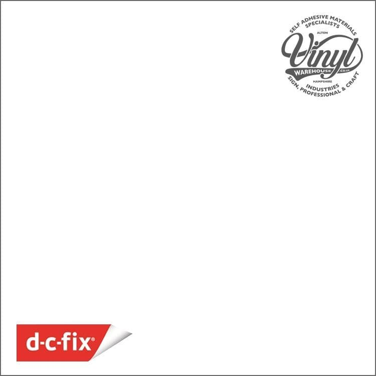 D-C-Fix Matt White RAL 9016 Sticky Back Vinyl (346-0001) 45cm x 2m